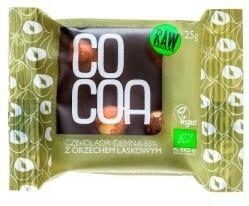 Cocoa CZEKOLADA CIEMNA 65% Z ORZECHAMI LASKOWYMI BIO 25 g