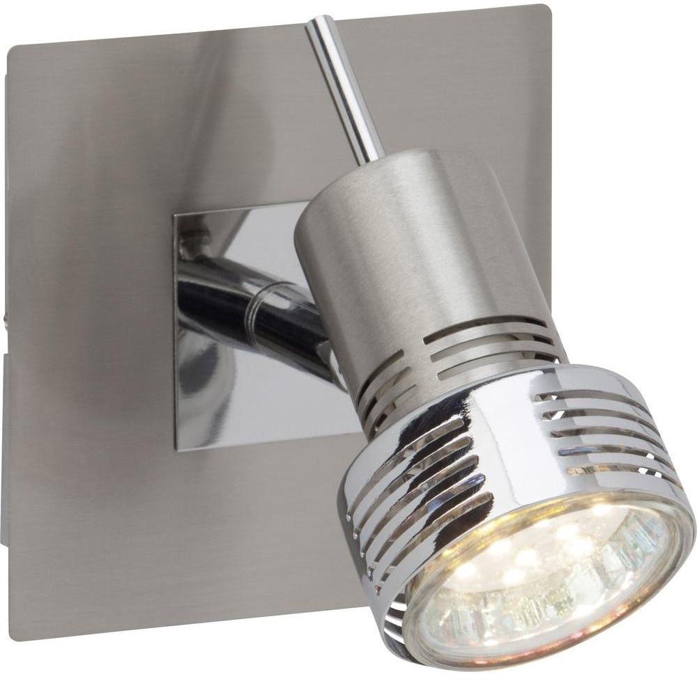 Brilliant Lampa ścienna G34710/77 GU10 DxSxW) 10 x 14 x 10 cm chrom satynowy) 4004353198151