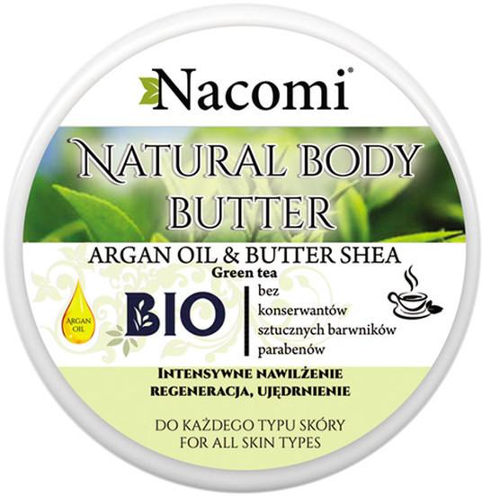 Nacomi Argan Oil&Butter Shea Masło Shea o Zapachu Zielonej Herbaty 100ml