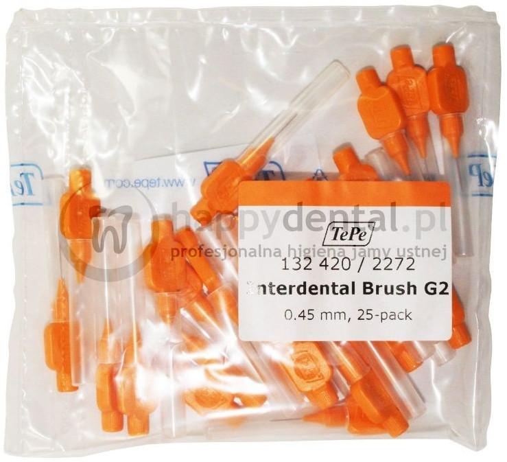 TePe ID Original (0.45mm) pomarańczowe 25szt. - zestaw szczoteczek międzyzębowyc