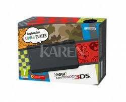 Nintendo New 3DS czarny + Animal Crossing HHD + Karty