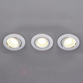 Lampenwelt Lampenwelt 3 okrągłe reflektory wpuszczane LED LISARA, białe