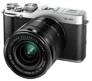 Fuji X-M1 + 16-50 kit srebrny