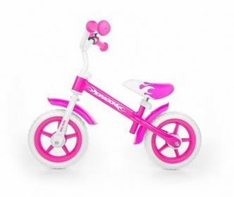 Milly Mally Rowerek biegowy Dragon różowy