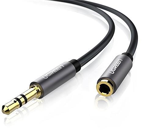 UGREEN Ugreen kabel (przedłużka) ze złączem jack 3,5 mm na gniazdo 3,5 mm, złocone złącza, wysokiej jakości obudowa z aluminium, kompatybilny z iPhonem, iPadem oraz smartfonami/tabletami