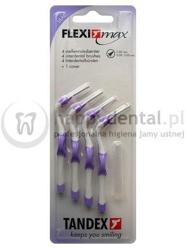 Tandex Flexi-MAX 4szt. BLISTER 0.8-3.0mm (LILIOWE) - zestaw 4 szczoteczek między