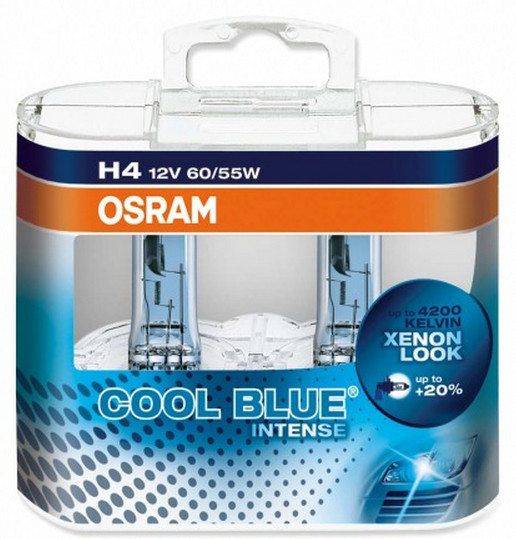OSRAM H4 12V 60/55W P43t COOL BLUER Intense