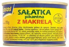 Łosoś Sałatka pikantna z makrelą 170 g Ustka