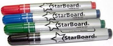Opinie o 2x3 Marker Suchościeralny suchościeralne StarBoard komplet 4 kolory