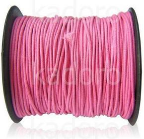 Sznurek woskowany 1.5 mm różowy - 1 m
