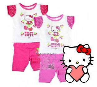 Hello Kitty HUSER S.C. KOMPLET BAWEŁNA 74 j.róż 6m 5185134079