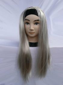 Peruka na opasce Piękne długie proste włosy