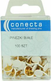Conecta Pinezki - białe 100szt.
