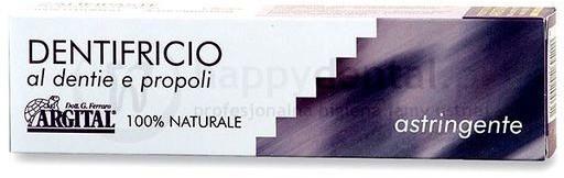 Argital Astringente 75ml - CZARNA PASTA, białe zęby, w 100% naturalna