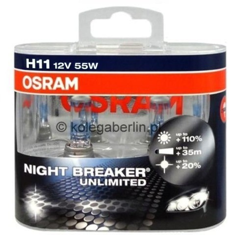 OSRAM H11 Night Breaker Unlimited Duo 64211NBU-HCB
