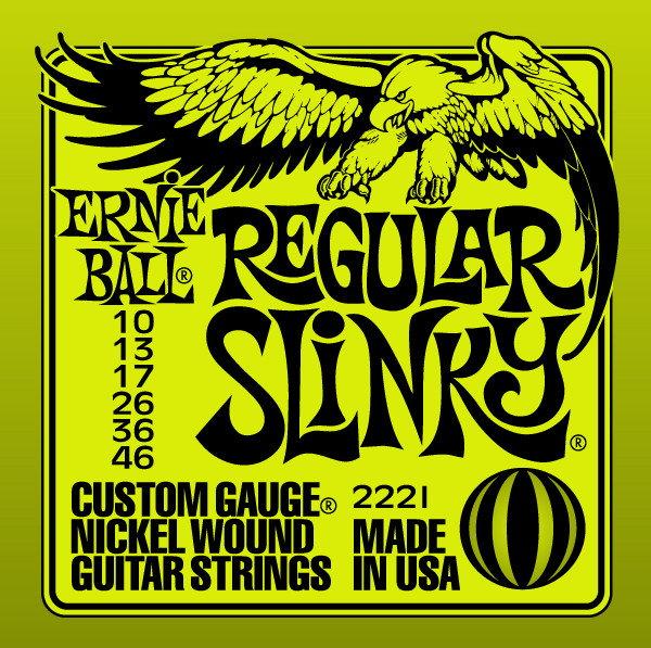 Ernie Ball EB 2221 seria NICKEL WOUND SLINKY - struny do gitary