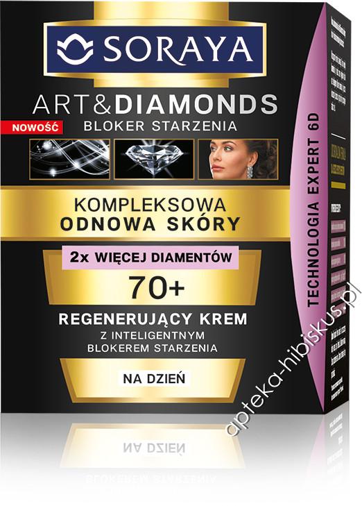 Soraya Art&Diamonds Kompleksowa Odnowa Skóry 70+ Regenerujący Krem na dzień 50ml