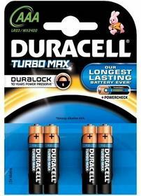 Duracell 4 x bateria alkaliczna Duralock Turbo Max LR03 AAA blister MN2400