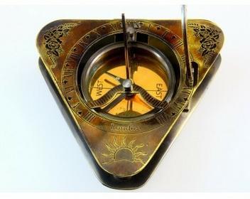 Hand made London Triangle - Zegar słoneczny z kompasem