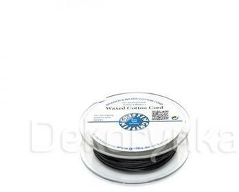 Griffin WAXED COTTON CORD Bawełniany sznurek woskowany 1mm 20m - Black