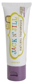 Jack n'jill - pasty do zębów Jack N'Jill, Naturalna Pasta do zębów, organiczna czarna porzeczka i Xylitol, 50g