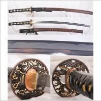 Kuźnia mieczy samurajskich Katana JAPOŃSKA SHIHOZUME 1095 ORAZ DAMAST HARTOWANA