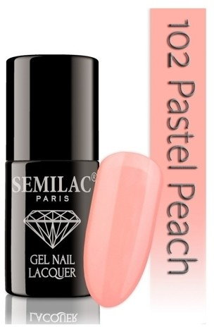 SEMILAC Diamond Cosmetics Lakier hybrydowy do paznokci 102 Pastel Peach 7ml