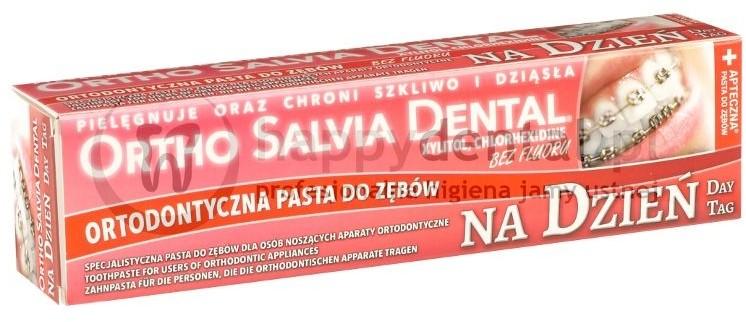 Atos ORTHO SALVIA DENTAL Classic (Dzień) 75ml - PASTA na dzień dla osób noszącyc