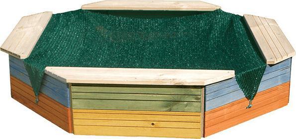 Woody Drewniana piaskownica - kolorowa 10310