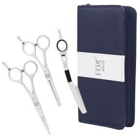 Fox Color White Zestaw białych nożyczek, degażówek i rezora - Zestaw białych noż
