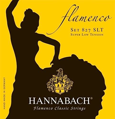 Hannabach Klassik Gita rrensaiten Serie 827Super Low Tension Flamenco Classickomplet 652957