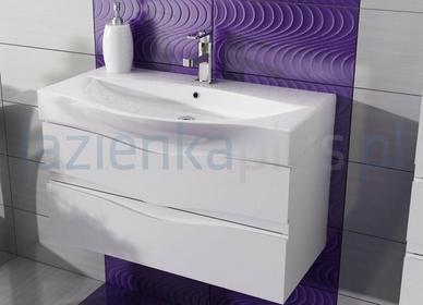 Antado Wave szafka pod umywalkę 80 cm biała 2 szuflady VA-140/80/2-WS