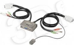 Edimax EK-2U2CA PRZEŁĄCZNIK KVM USB 2 PORTY MIC