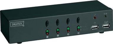 Digitus Rozdzielacz USB KVM + audio 4 DC-12402 1920 x 1440 pikseli