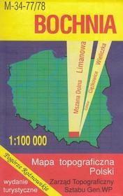 Bochnia Mszana Dolna Limanowa mapa 1:100 000 WZKart