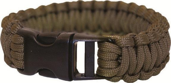 BCB Bransoleta survivalowa Paracord Bracelet - Olive Drab