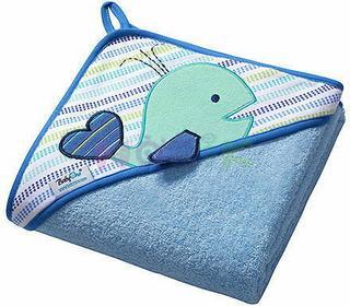 BabyOno Okrycie kąpielowe kąpielowe Frotte z kapturkiem 76x76 (niebieskie) 141/04