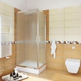 Sea Horse Sigma 70x70 profil chrom szkło chinchila z powłoką CleanGLASS + brodzik BKZ0/3/Q+
