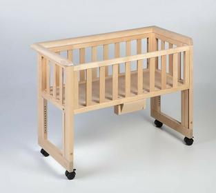 Troll Nursery Bedside Crib łóżeczka drewniane dostawne brzoza