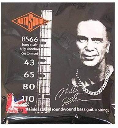 Rotosound rotos górne stal nierdzewna grubość strun Billy sheehan na drut gitara basowa, okrągły, 436580110 BS66
