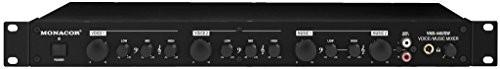 Monacor VMX-440/SW 4-kanałowy mikrofon Line mikser audio Czarny 202530