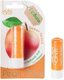 Laura Conti Shine Brzoskwiniowy perłowy balsam do ust 3,6g