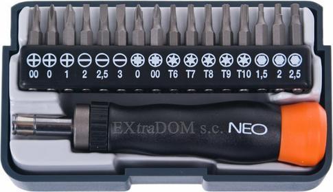 NEO-TOOLS wkrętak precyzyjny z końcówkami 17części Tools 04-228