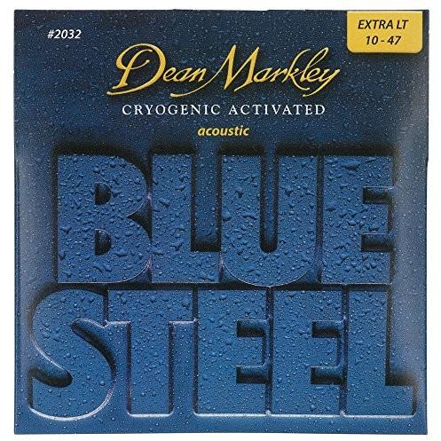 Dean Markley 2032Blue Steel XL, kriogenicznego naciągi gitara akustyczna, grubość .010.048 2032