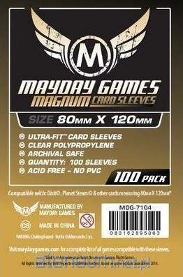 Mayday Games Koszulki Magnum Gold 80x120 (100szt) MAYDAY
