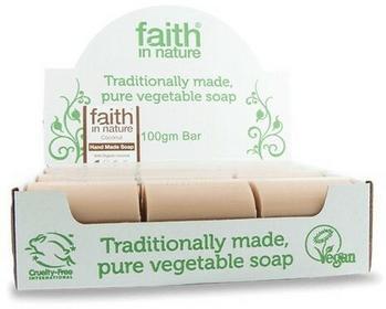 Faith In Nature Organiczne Mydło w kostce z mleczkiem kokosowym 18sztuk x 100g -
