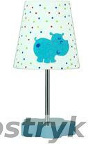 Candellux HIPPO lampka 1X40W E14 płótno Niebieski promocja 41-43736