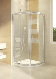 Omnires Health 80x90 prawa profil chrom błyszczący szkło transparentne JK2808/09 P LC2 TR