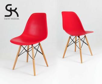 Świat Krzeseł KR012 CZERWONE krzesło inspirowane DSW Eames Eiffel KR012D C