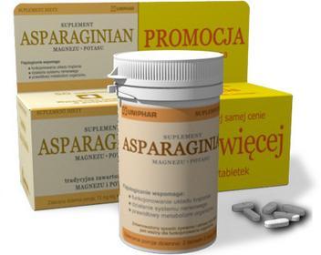 Unipharm Asparaginian Magnezu Potasu 100 szt.